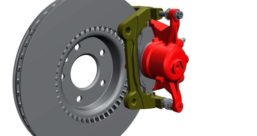 Brake Disc royalty-free 3d model - Preview no. 3