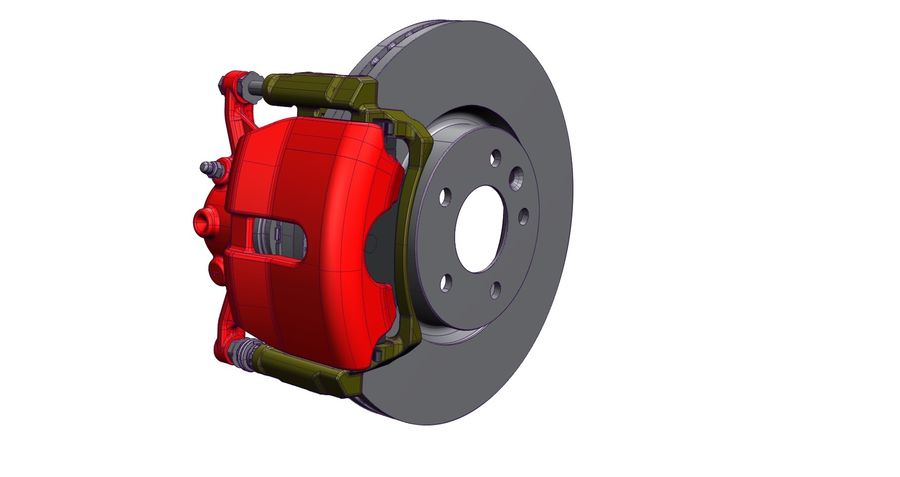 Brake Disc royalty-free 3d model - Preview no. 1