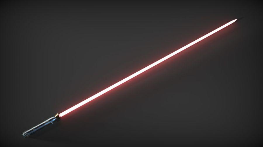 Darth Bane Lightsaber royalty-free 3d model - Preview no. 8