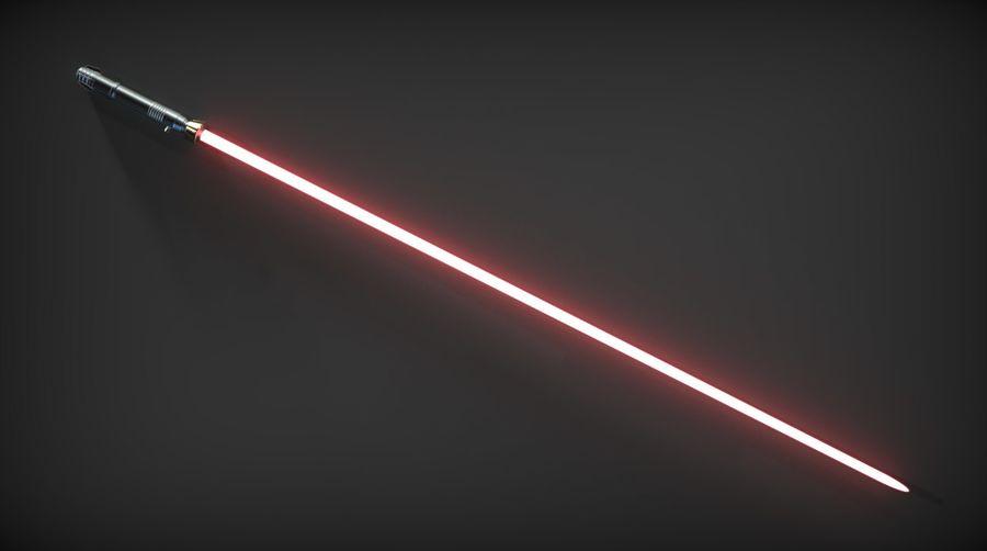 Darth Bane Lightsaber royalty-free 3d model - Preview no. 9