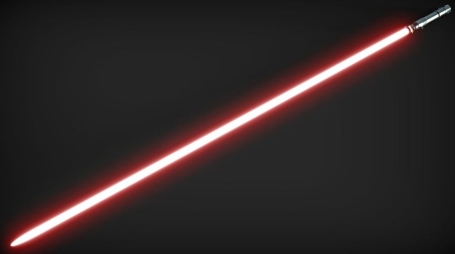 Darth Bane Lightsaber royalty-free 3d model - Preview no. 5