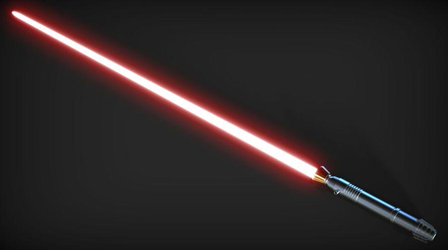 Darth Bane Lightsaber royalty-free 3d model - Preview no. 6