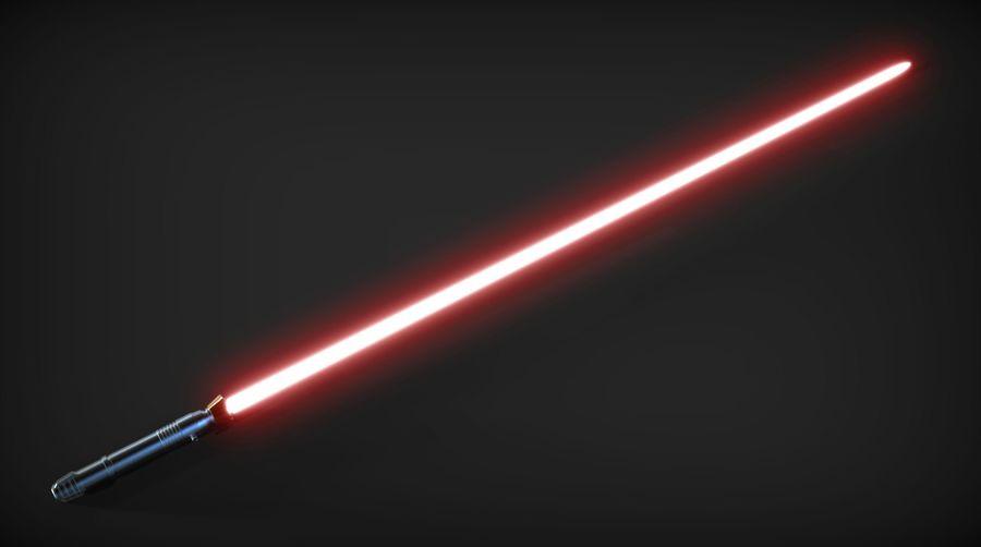 Darth Bane Lightsaber royalty-free 3d model - Preview no. 7