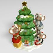 Christmas candleholder 3d model