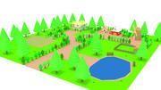 Cartoon-Bauernhof 3d model
