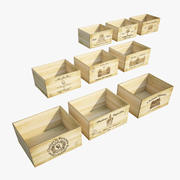 Коллекция марочных винных ящиков 3d model