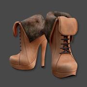 Winter High Heel Boots 3d model