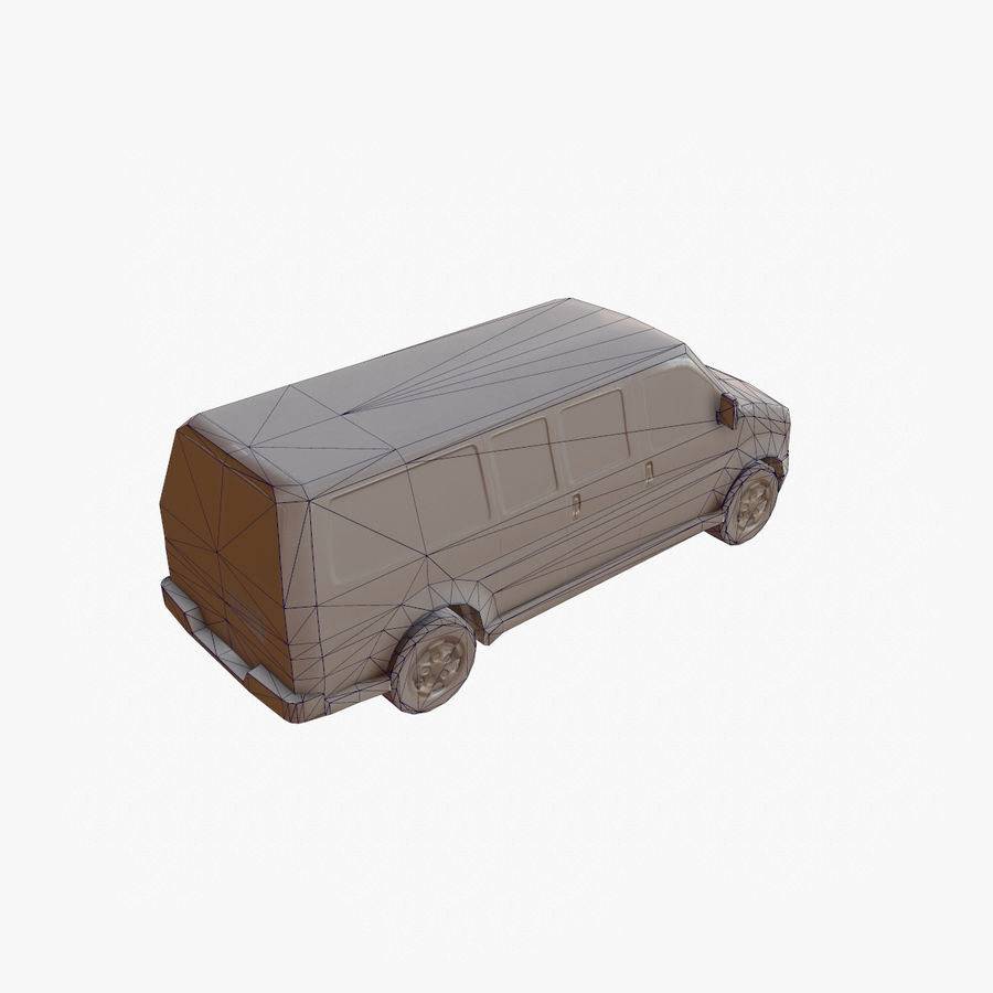 Old Car 2 (low poly) royalty-free 3d model - Preview no. 18