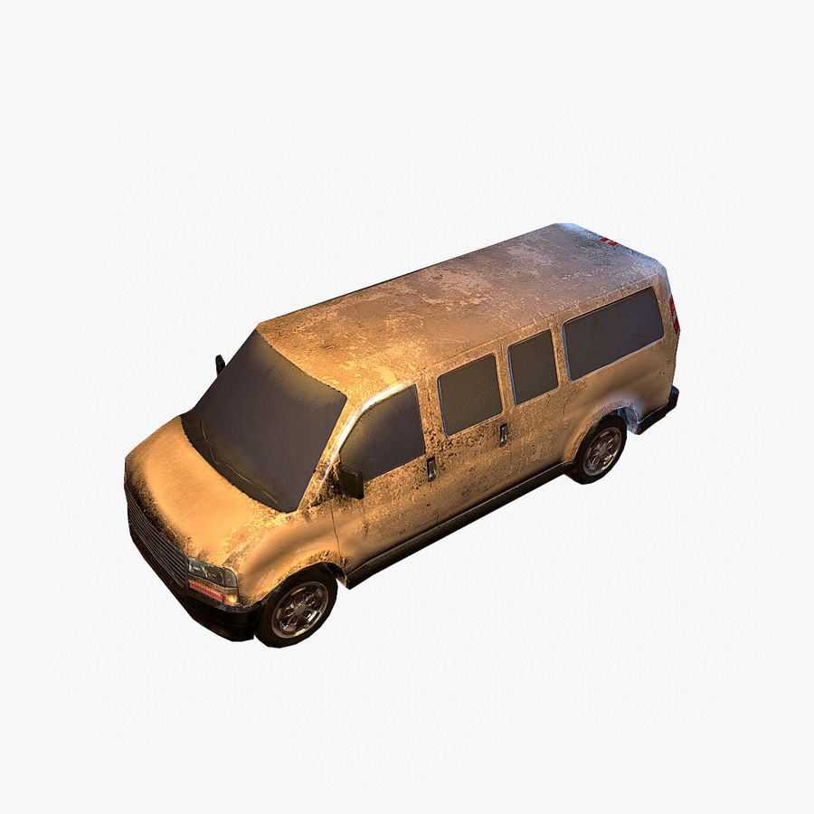 Old Car 2 (low poly) royalty-free 3d model - Preview no. 2