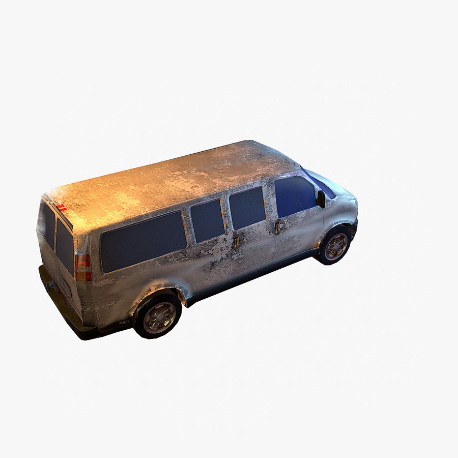 Old Car 2 (low poly) royalty-free 3d model - Preview no. 10