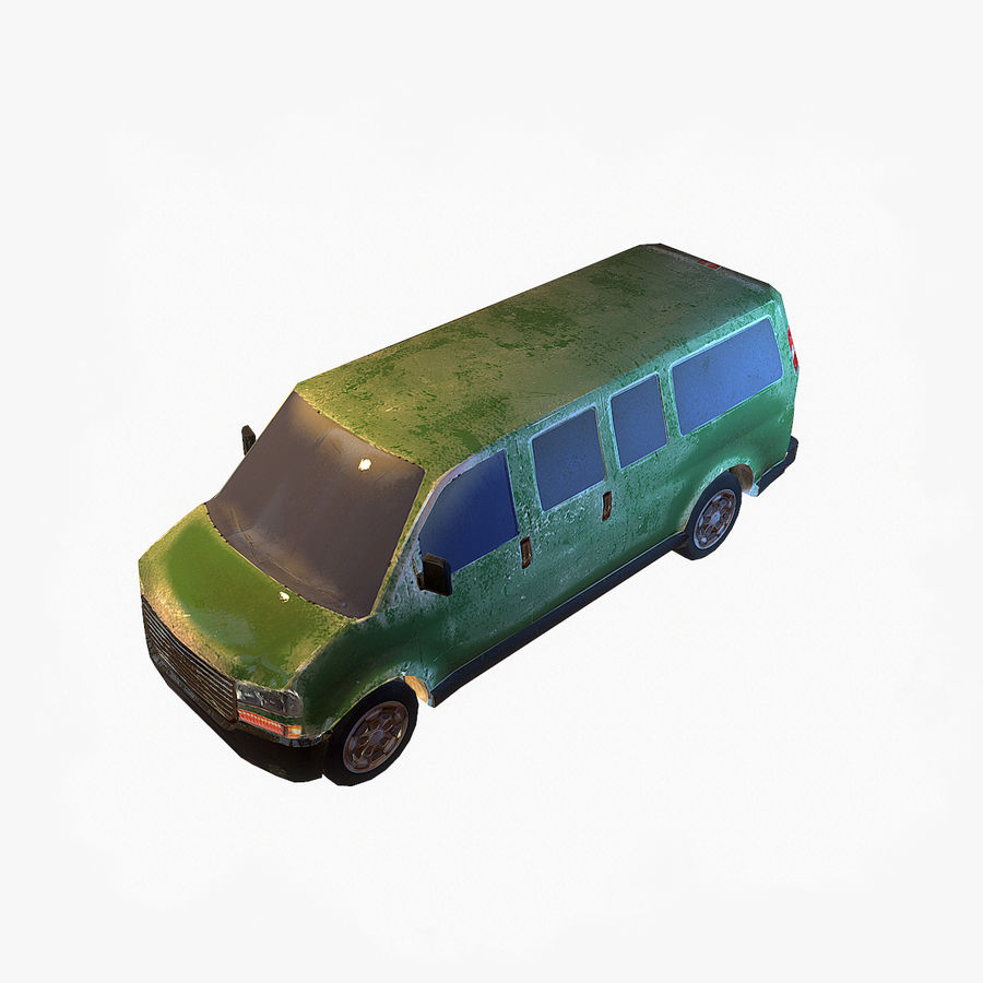 Old Car 2 (low poly) royalty-free 3d model - Preview no. 1