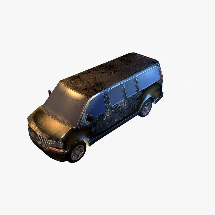 Old Car 2 (low poly) royalty-free 3d model - Preview no. 3