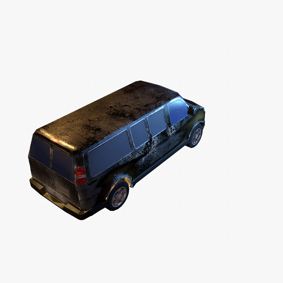Old Car 2 (low poly) royalty-free 3d model - Preview no. 13