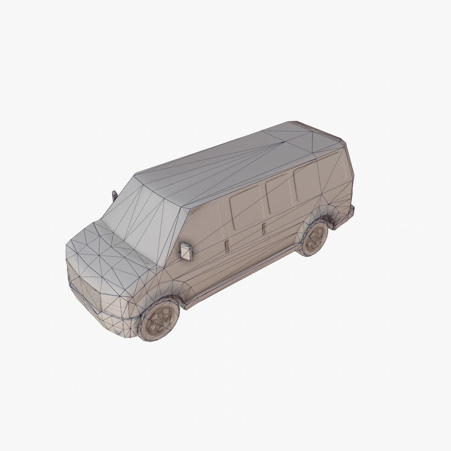 Old Car 2 (low poly) royalty-free 3d model - Preview no. 17