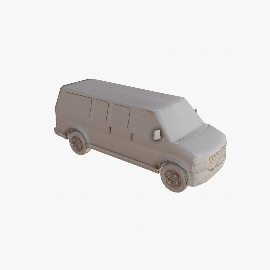 Old Car 2 (low poly) royalty-free 3d model - Preview no. 16