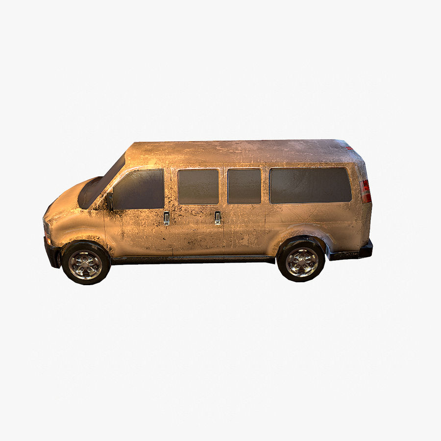 Old Car 2 (low poly) royalty-free 3d model - Preview no. 11