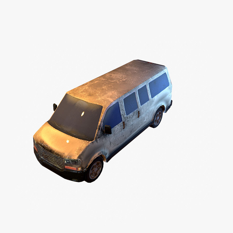 Old Car 2 (low poly) royalty-free 3d model - Preview no. 8