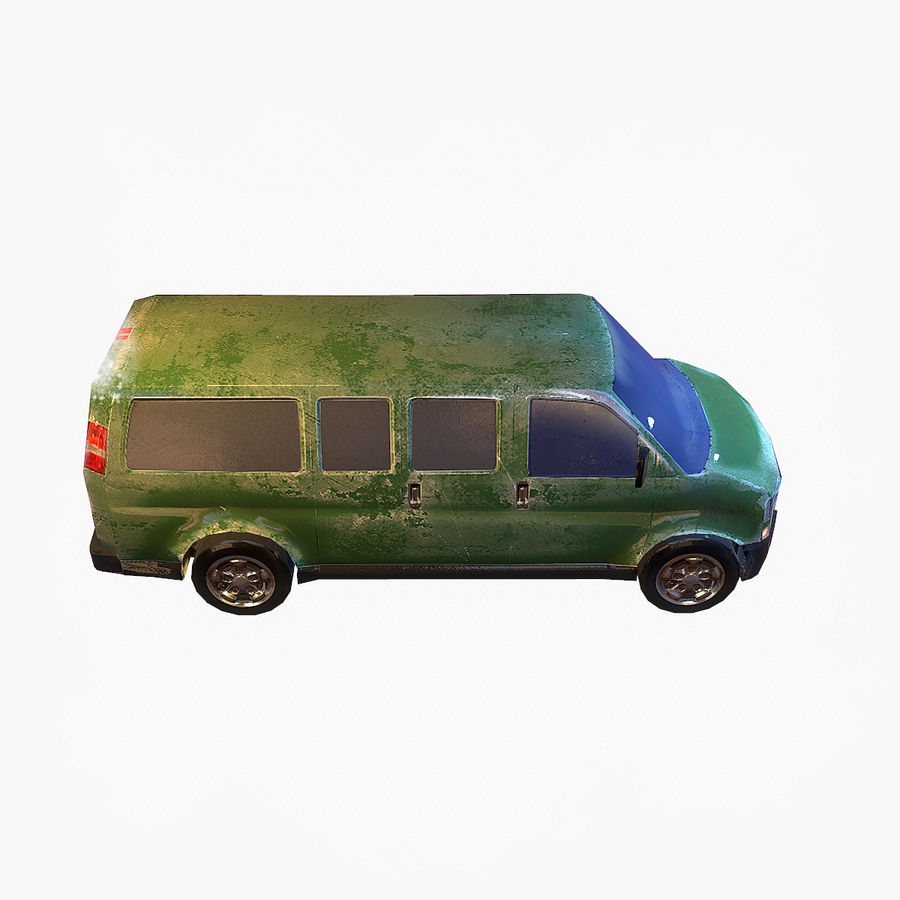 Old Car 2 (low poly) royalty-free 3d model - Preview no. 5