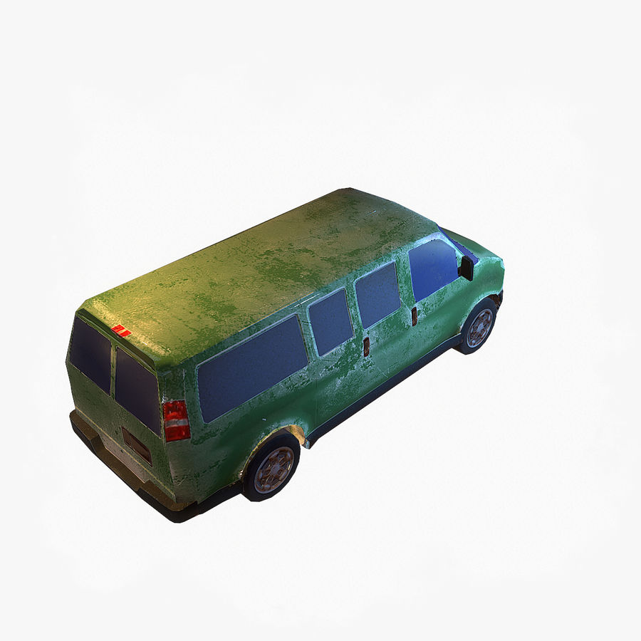 Old Car 2 (low poly) royalty-free 3d model - Preview no. 6