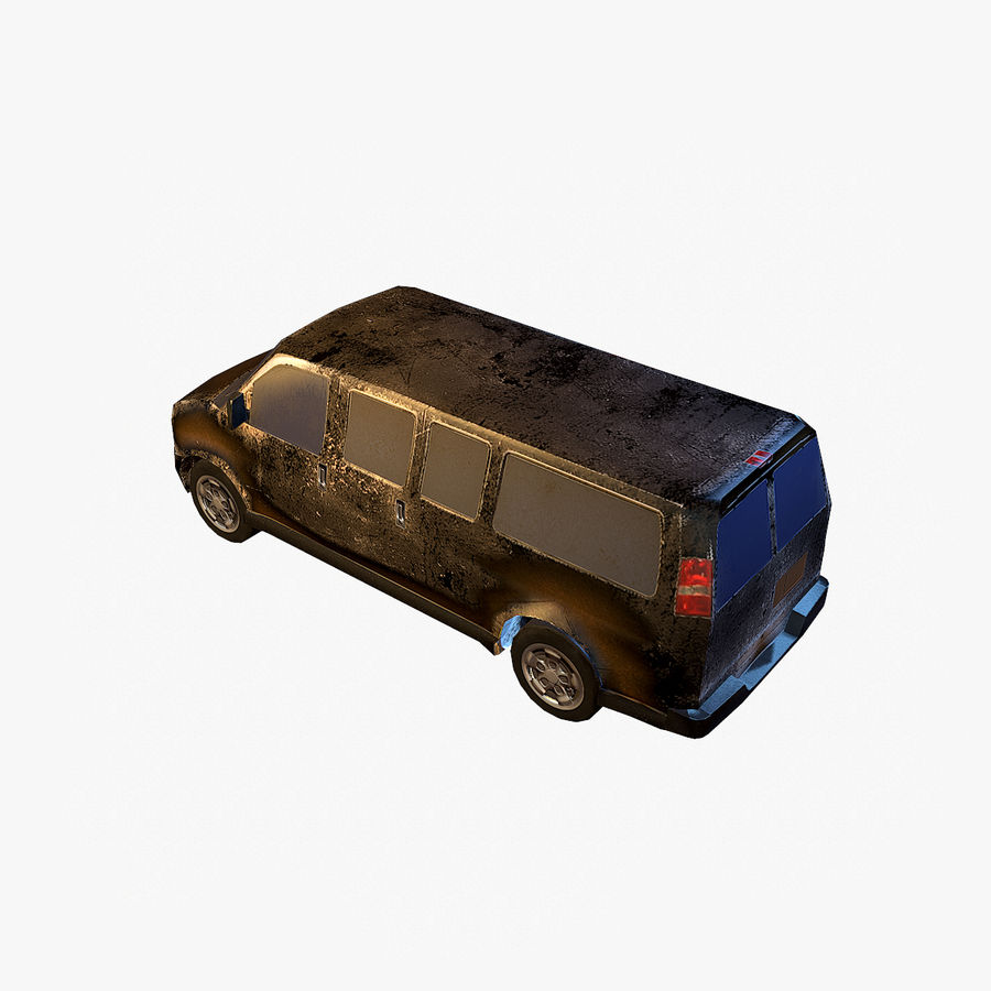 Old Car 2 (low poly) royalty-free 3d model - Preview no. 14