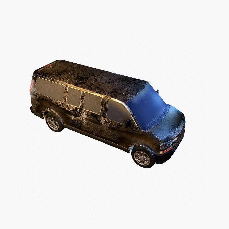 Old Car 2 (low poly) royalty-free 3d model - Preview no. 12