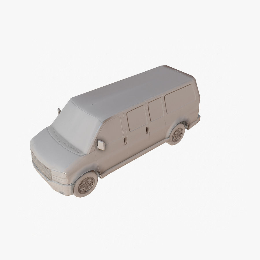 Old Car 2 (low poly) royalty-free 3d model - Preview no. 15