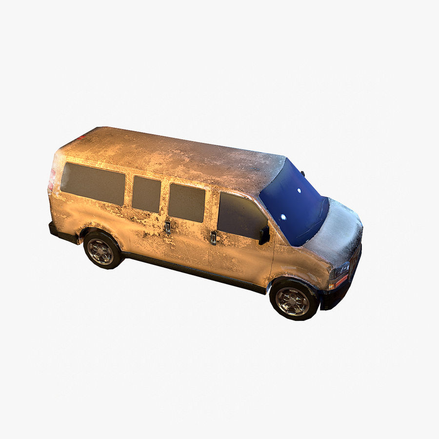 Old Car 2 (low poly) royalty-free 3d model - Preview no. 9