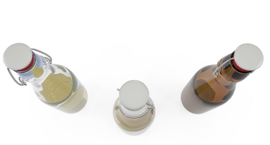 Bottle Oil royalty-free 3d model - Preview no. 5