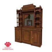 Wooden Sideboard 3d model