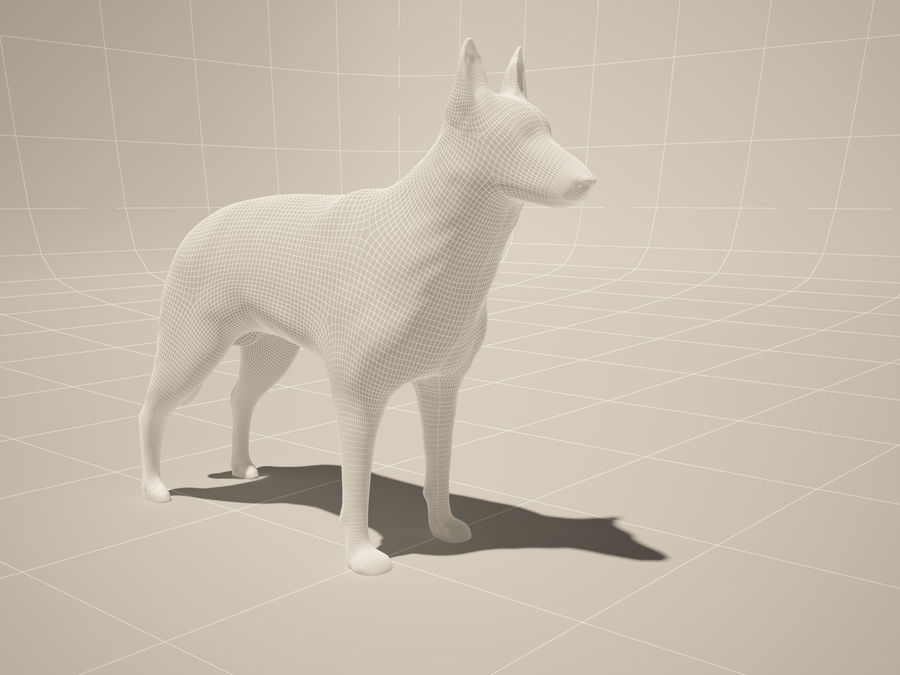 Chien berger allemand royalty-free 3d model - Preview no. 4
