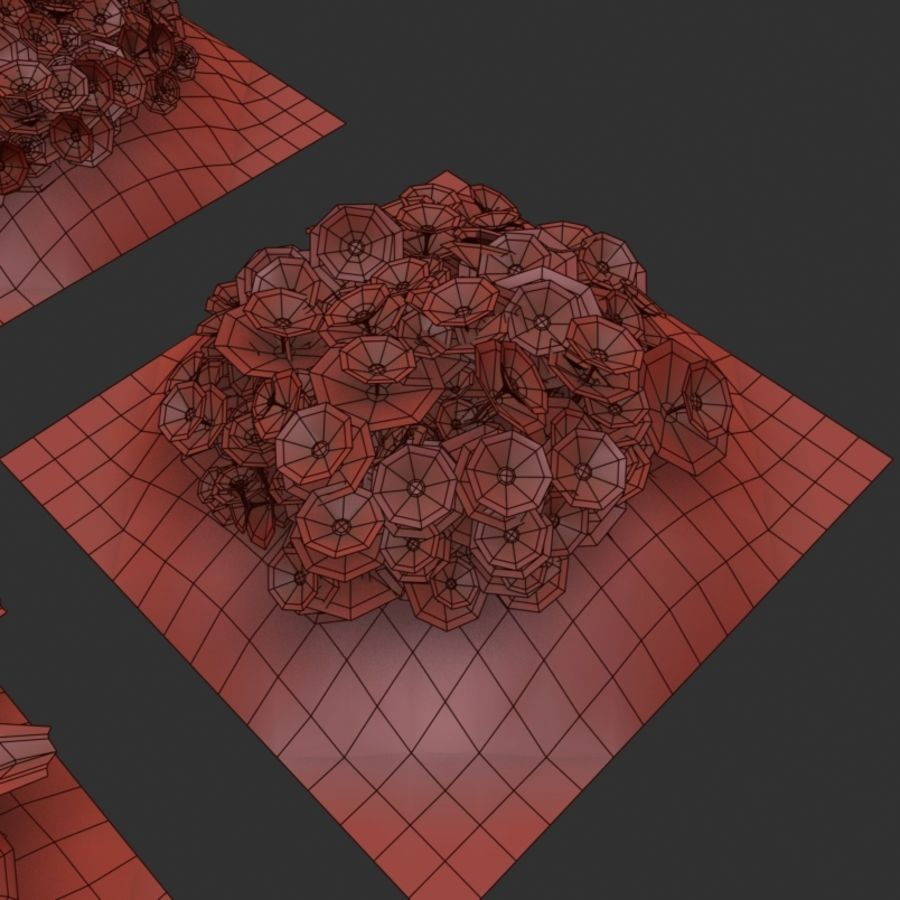 Flower Bushes royalty-free 3d model - Preview no. 12