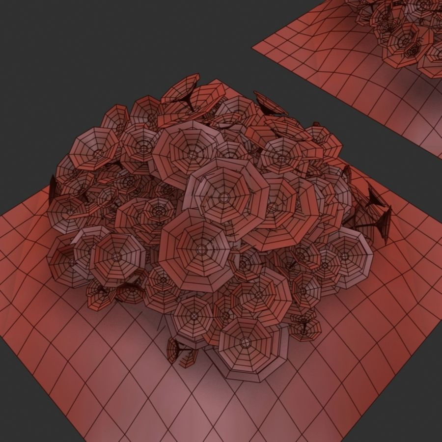 Flower Bushes royalty-free 3d model - Preview no. 15