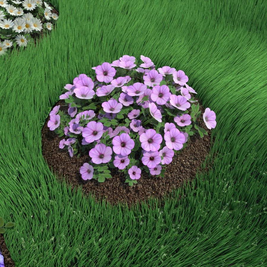 Flower Bushes royalty-free 3d model - Preview no. 6