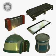 Collezione di oggetti di scena di fantascienza 01 3d model