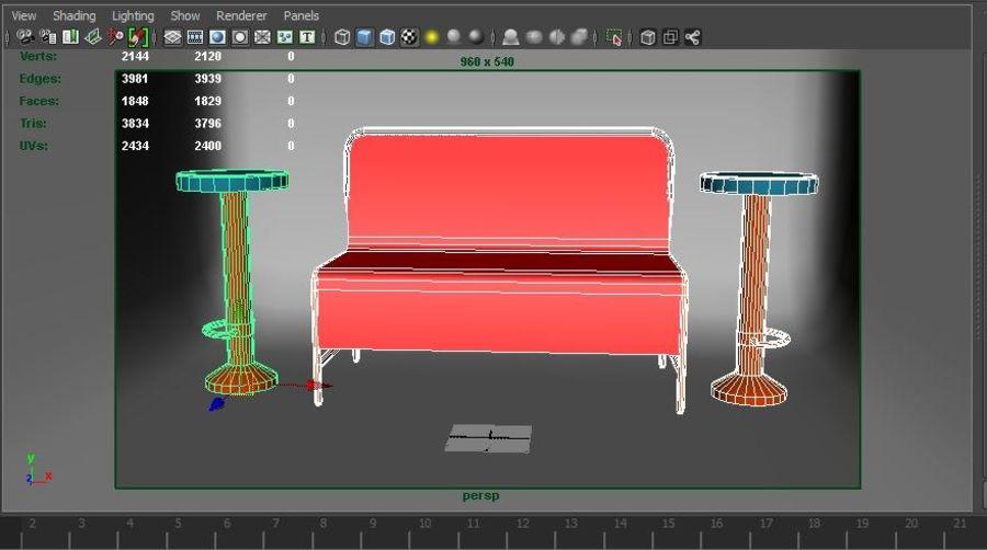 cadeira de tamborete royalty-free 3d model - Preview no. 6