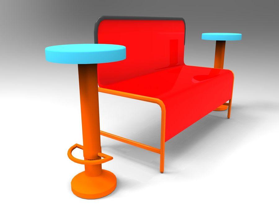 cadeira de tamborete royalty-free 3d model - Preview no. 2