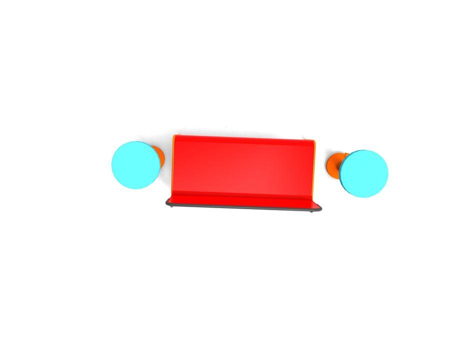 cadeira de tamborete royalty-free 3d model - Preview no. 4