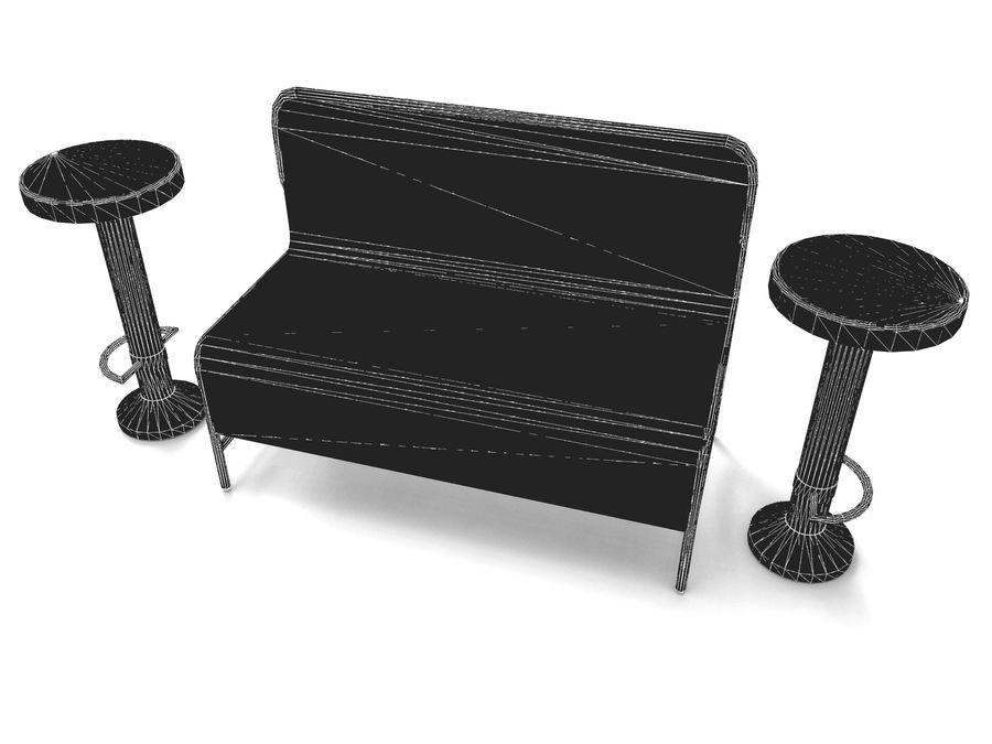 cadeira de tamborete royalty-free 3d model - Preview no. 5