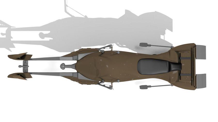 Speeder Bike royalty-free 3d model - Preview no. 5