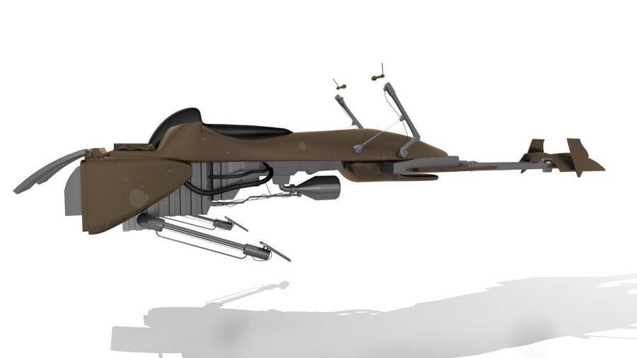 Speeder Bike royalty-free 3d model - Preview no. 7