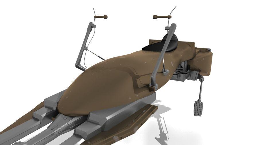 Speeder Bike royalty-free 3d model - Preview no. 9