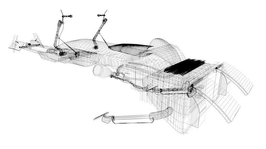 Speeder Bike royalty-free 3d model - Preview no. 2