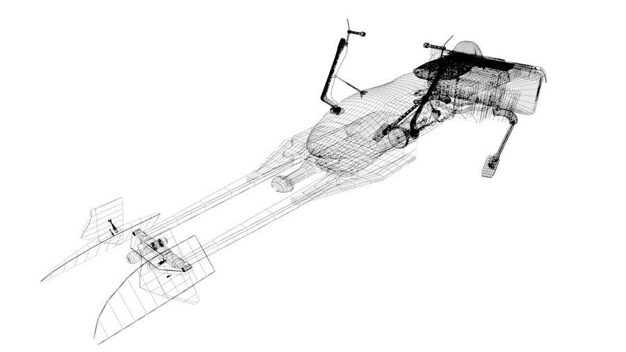 Speeder Bike royalty-free 3d model - Preview no. 4