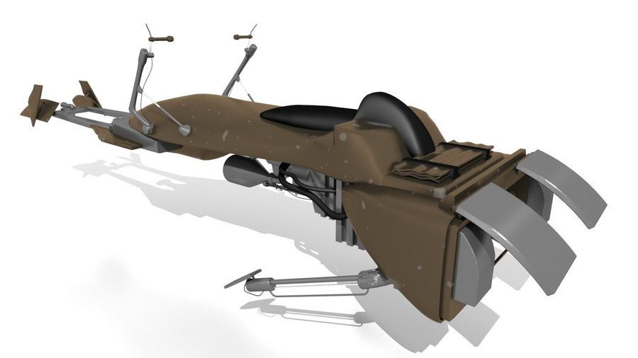 Speeder Bike royalty-free 3d model - Preview no. 1