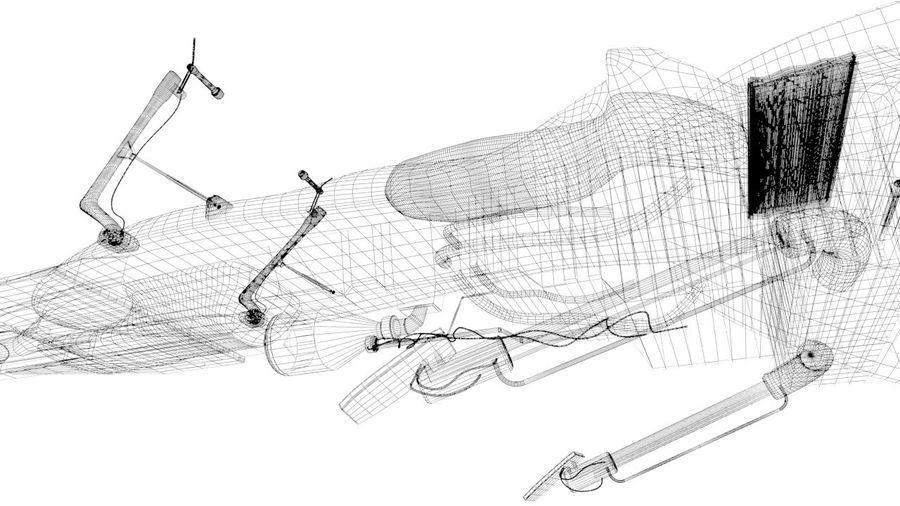 Speeder Bike royalty-free 3d model - Preview no. 12