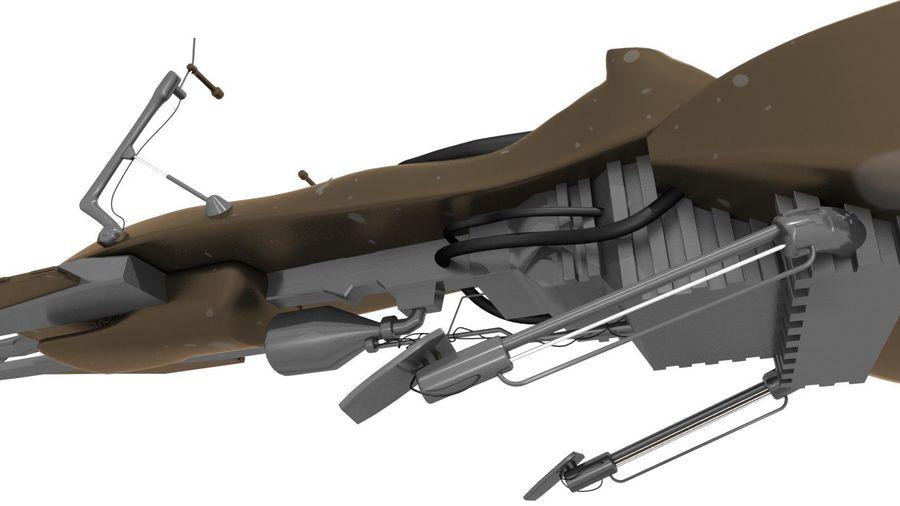 Speeder Bike royalty-free 3d model - Preview no. 11