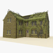 Old Brick House 2 With Ivy 3d model