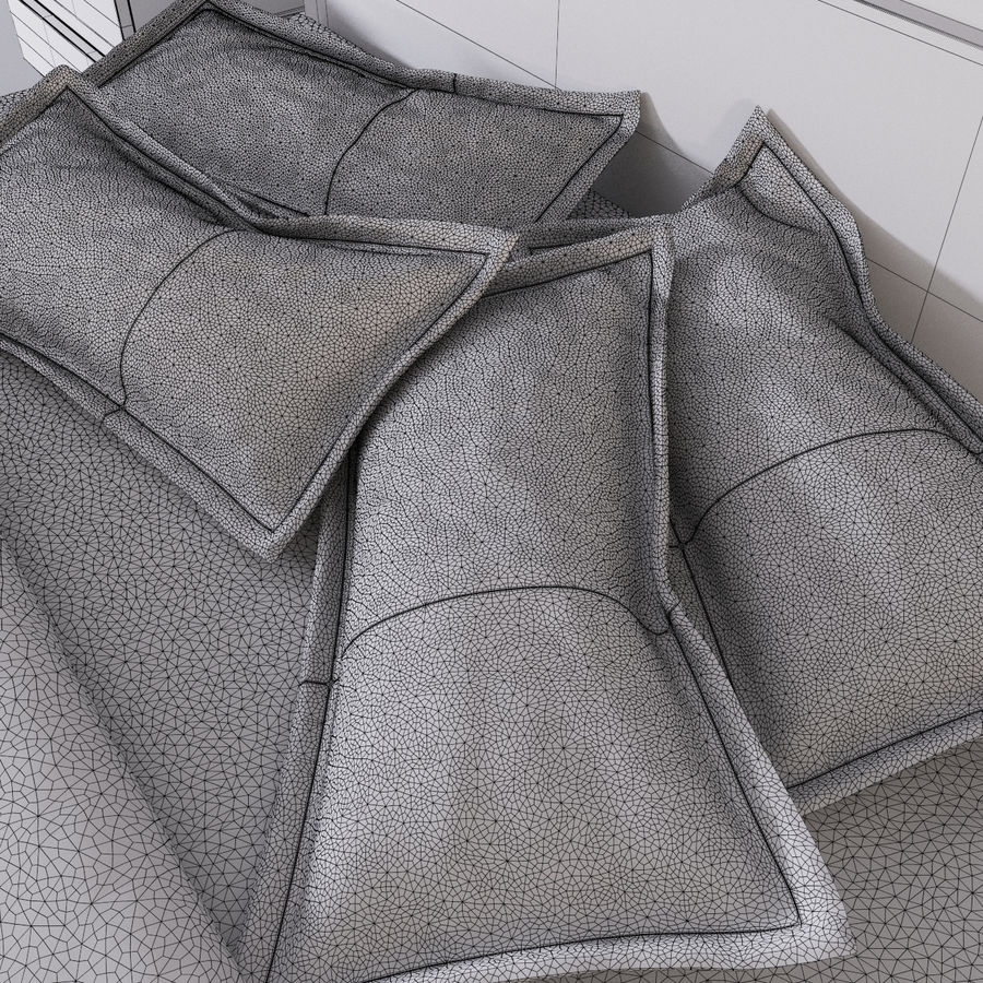 bed modern royalty-free 3d model - Preview no. 12
