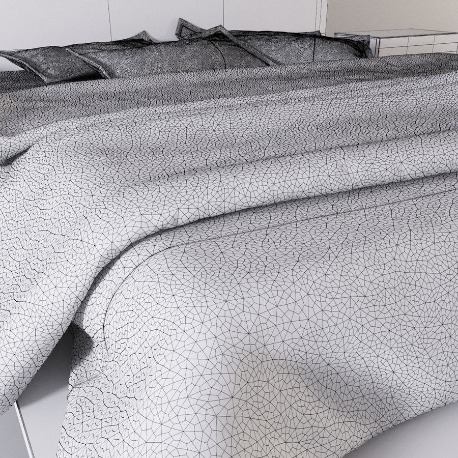 bed modern royalty-free 3d model - Preview no. 10