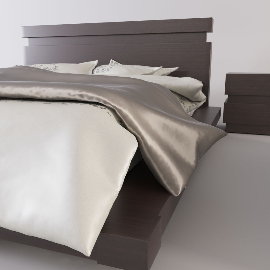 bed modern royalty-free 3d model - Preview no. 7